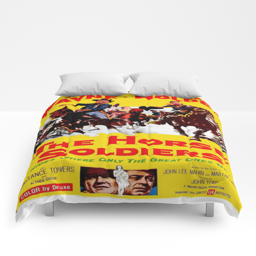 Vintage Movie Posters, The Horse Soldiers Comforter by Esotericaartagency CMF8648385