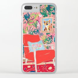 Red Chair Clear iPhone Case