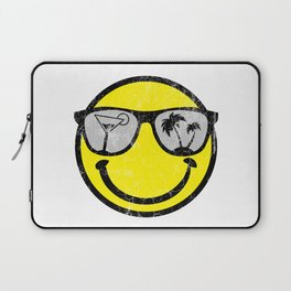 Happy Beach Face   Beach Designs   DopeyArt Laptop Sleeve