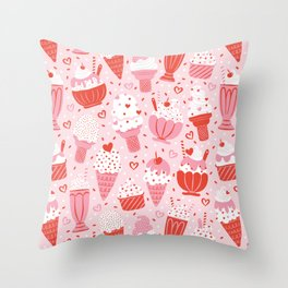 Sweet Ice Cream Throw Pillow