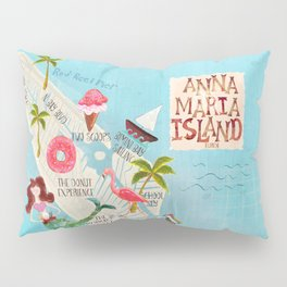 Anna Maria Island Map Pillow Sham