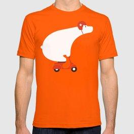 Polar bear on scooter T-shirt