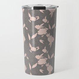 Floral Bounty in Gray Travel Mug