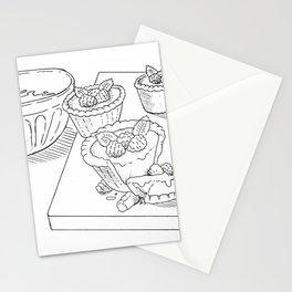 Raspberry Tarts Stationery Cards