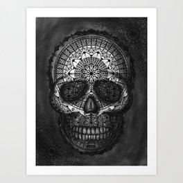 Caveira Mandala Art Print