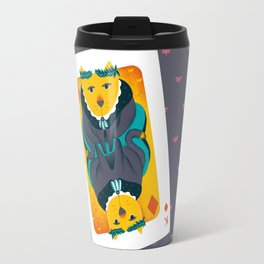 Cat the King of Diamonds Travel Mug