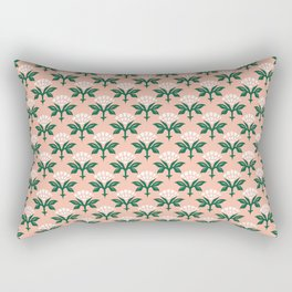 Ajrak Woodblock Floral Print Rectangular Pillow