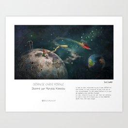 """""""La Lune"""" en Mots & Image illustré par Matylda Konecka (French Touch) Art Print"""