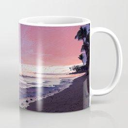 Maui Sunset Pixel Sort Coffee Mug