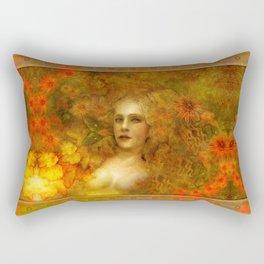"""Ofelita de Oro"" (From ""Death, Life, Hope"") Rectangular Pillow"