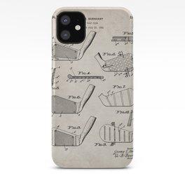 Golf Clubs Patent - Golfing Art - Antique iPhone Case