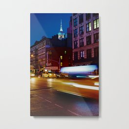 Taxi's Whizzing By Metal Print