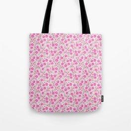 pink floral design Tote Bag