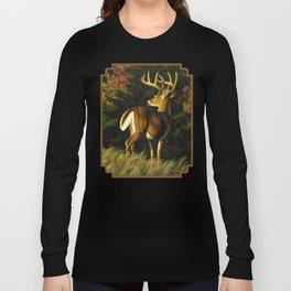 Whitetail Deer Trophy Buck Long Sleeve T-shirt