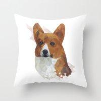 corgi Throw Pillows featuring CORGI // by kitschchris