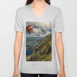 Snowdon Hot Air Balloon Unisex V-Neck