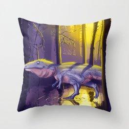 Giganotosaurus dinosaur Throw Pillow