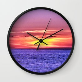 Saturated Sunset Delight Wall Clock