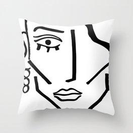 Faire Visage No 72 Throw Pillow