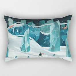 The wanderer and the ice forest Rectangular Pillow