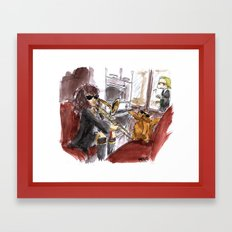 When Harry and Ron aren't here... Framed Art Print