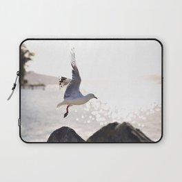 Seagull takes flight over Dunedin's MacAndrew Bay Laptop Sleeve