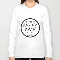 derek hale Long Sleeve T-shirts featuring Protect Derek Hale by punkhale