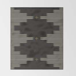 Southwestern Minimalist Black & White Throw Blanket