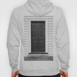 Door with Cobwebs in Black and White Hoody