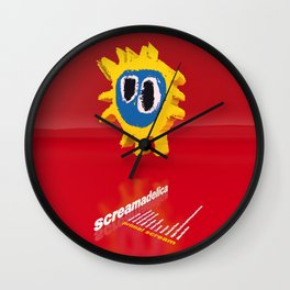 Screamadelica Inspired Wall Clock