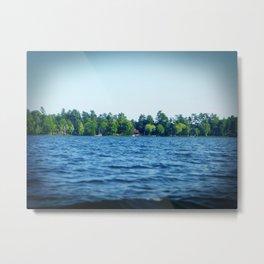 Lake Water View Color Photo Metal Print