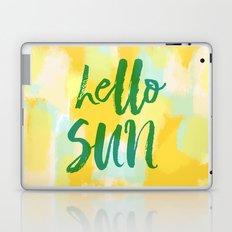 Hello Sun - Sunny yellow abstract Laptop & iPad Skin