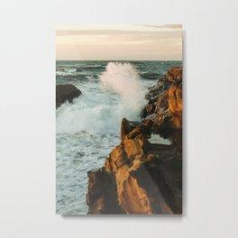 waves come crashing Metal Print