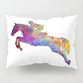 Horse show 06 in watercolor Pillow Sham