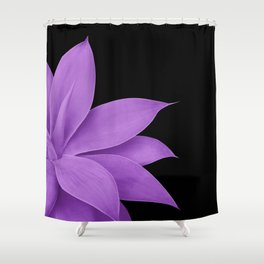 Agave Finesse #10 - Purple on Black #tropical #decor #art #society6 Shower Curtain