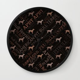 American Pit Bull Terrier Wall Clock