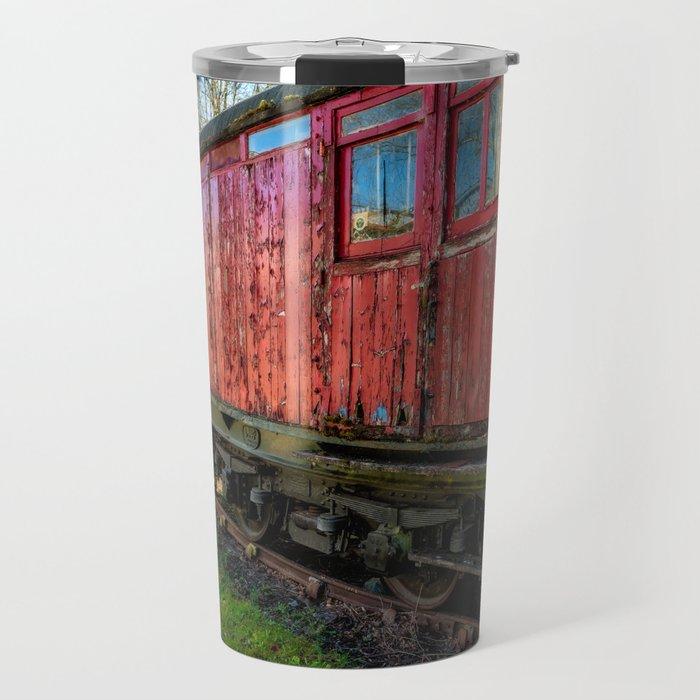 Old Train Wagon Travel Mug