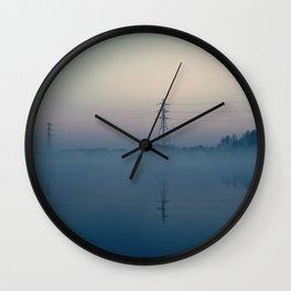 Foggy Morning At Chasewater Wall Clock