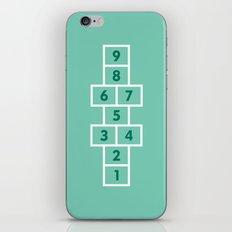 Hopscotch Mint iPhone & iPod Skin