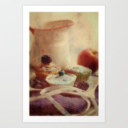 Pastries Still life in the kitchen Art Print