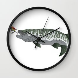 I Fish Muskies Everthing Else Is Bait Musky Pike Wall Clock