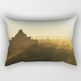 Bagan Pagoda Sunrise Rectangular Pillow