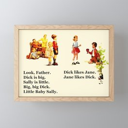 Adventures of Dick & Jane Framed Mini Art Print