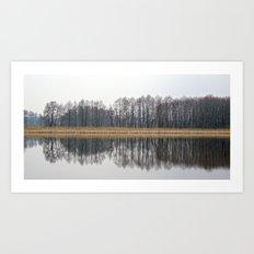 LANDSCAPE RIVERSIDE Art Print