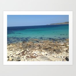 blue oceans Art Print