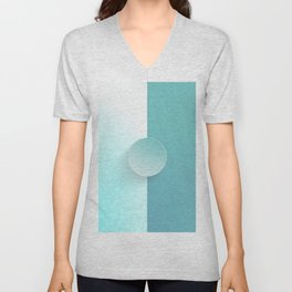 Light MoonStone Blue Unisex V-Neck