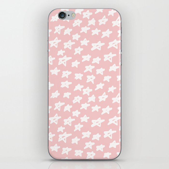 Stars on pink background iPhone Skin