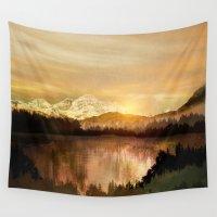 sunrise Wall Tapestries featuring Sunrise by Viviana Gonzalez