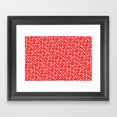 Control Your Game - White on Red Framed Art Print
