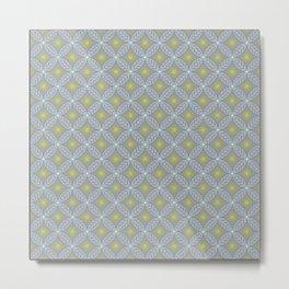 X Leaf Pattern Metal Print
